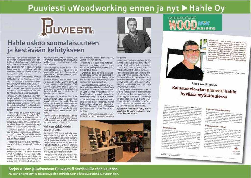 Woodworking ennen ja nyt - Hahle Oy