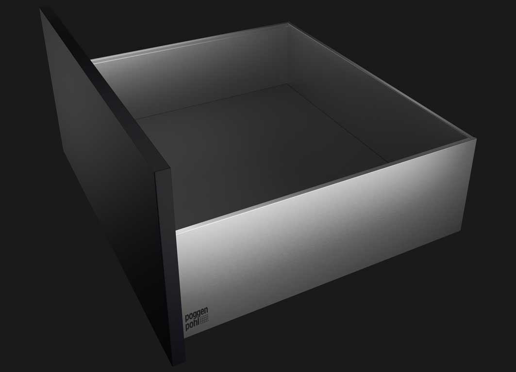 Reduced look that is pure in design – uncompromisingly clean lines: AvoriTech takes the 8 mm drawer side profile to a new level in terms of design and practical functionality